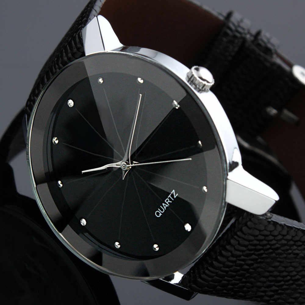 Luxe Militaire Mannen Zakelijke Quartz Horloge Lederen Horloges Polshorloge Mannen Horloges Erkek Kol Saati 2019 Mannen Business Watch121