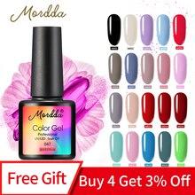 MORDDA 8ML Gel de uñas esmalte UV LED Gel barniz para el diseño de los dedos remoja la laca de Gel de larga duración herramientas para manicura con pintura de uñas de Gel