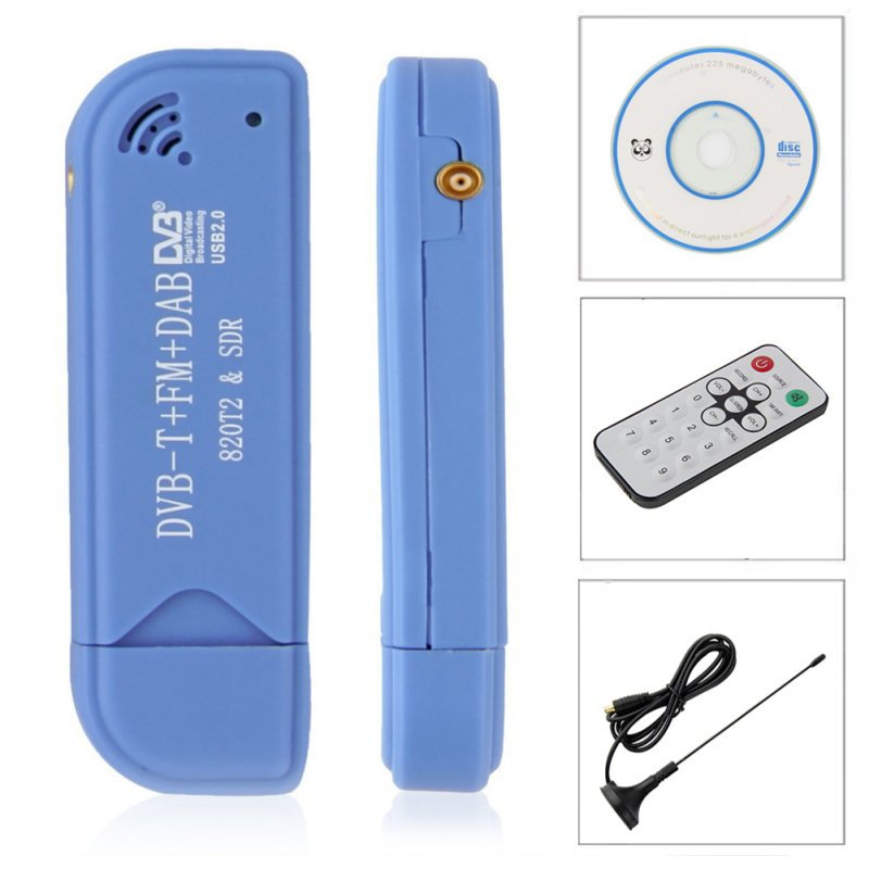 EDAL USB 2.0 Software Radio DVB-T RTL2832U+R820T2 SDR Digital TV Receiver Stick Technology with Remote Control & Antenna image