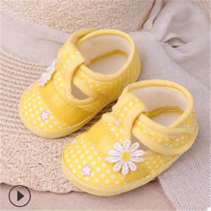 Soft-Shoes Baby Casual Anti-Slip Floral for Kids Firstwalker Cotton