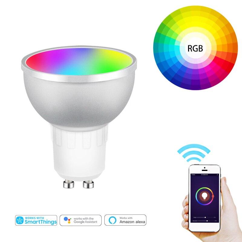 Tuya Zigbee 3,0 Smart Licht Lampe Wifi Birne 5W Farbwechsel RGB Led-lampe Gu10 85V- 265V APP Remote Kompatibel Alexa Google Hause