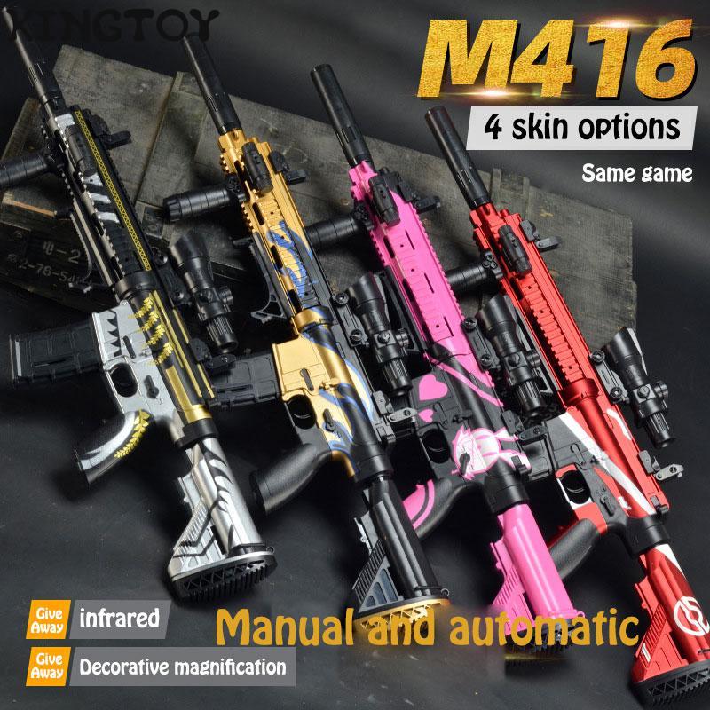 Free Switching Water Bullet Gun M416 Infrared Water Darts Gun Toy Boys Sniper Rifle Outdoor Shooting Toys 1706379 1