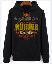 Lord of The Rings ,Mordor Dark Ale Spoof,Adult and Kids Sizes Cotton Men Hoodies Sweaters Classical Top Tee Basic Models(China)
