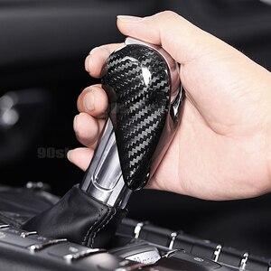 Dla Porsche Panamera Macan 911 Cayenne 718 Boxster Cayman 2010-2020 suche włókna węglowego AT gałka zmiany biegów pokrywa wykończenia