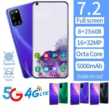 NEW 7.2inch P47 Smartphone 8GB RAM 256GB ROM Snapdragon 855 Cellphone Dual SIM Android Mobile Phone Cell Smart Phones Free Shipp