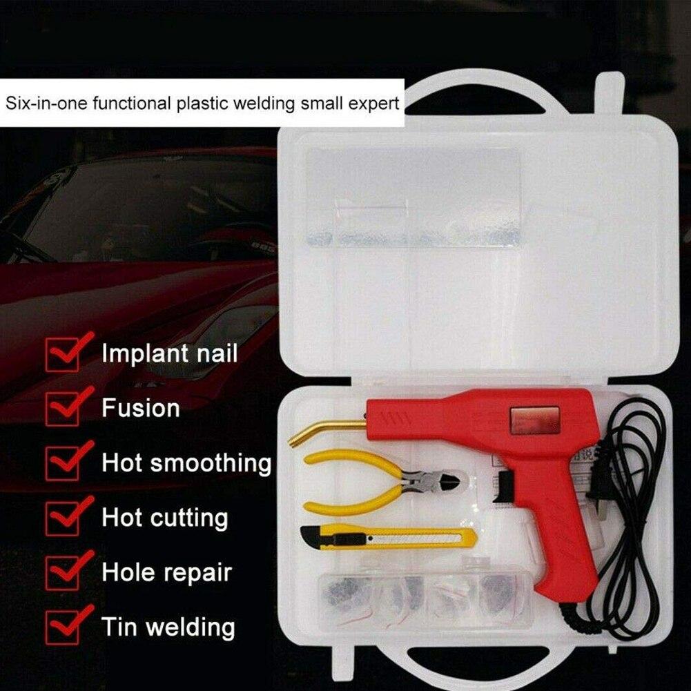 50W Car Bumper Repair Welding Gun Welder Hot Stapler Welding Machin Kit Welding Repairing Tool Hot Staplers Soldering Iron Set