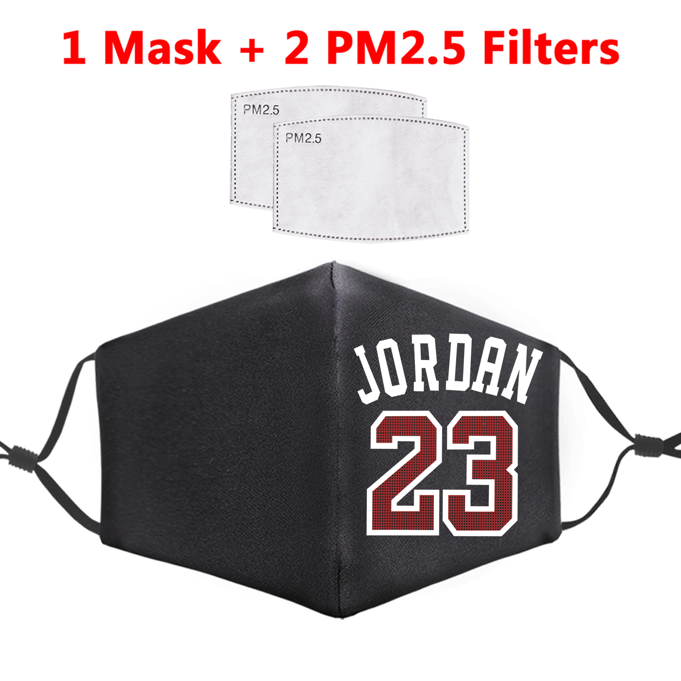 Jordan 23 Printed Face Masks PM2.5 Filter Reusable Adult Masks Windproof Fabric Mouth Cover Dust Unisex Proof Flu Bacteria Mask