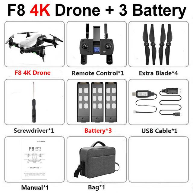 F8 Profissional FPV Vision 4K HD Camera Drone with Two-Axis Anti-Shake and GPS 48