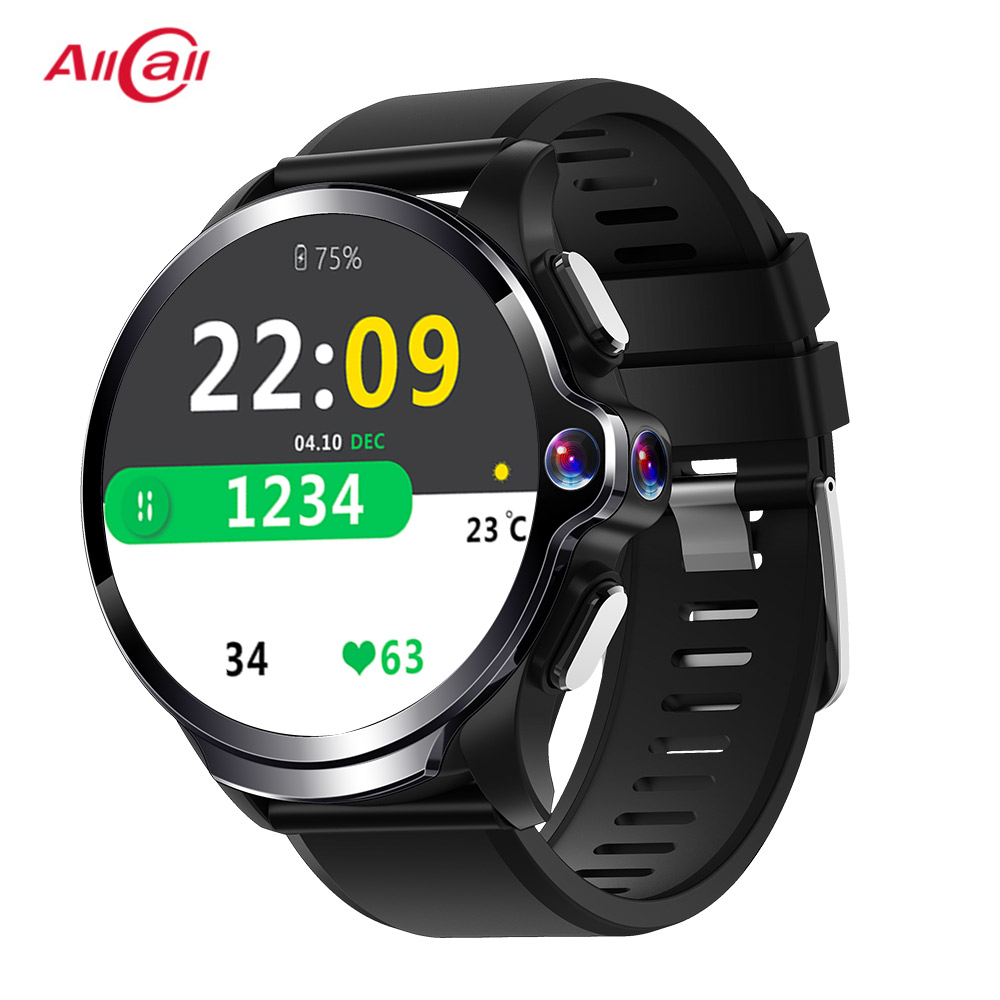 Allcall Awatch GT <font><b>4G</b></font> <font><b>SmartWatch</b></font> 3GB 32GB 1260mAh Battery 1.6 Inch Dual Camera Face ID Waterproof <font><b>Smartwatch</b></font> Phone Man Woman image