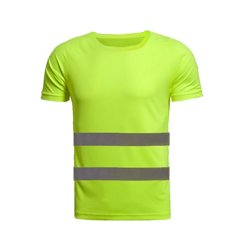New Reflective Safety Short Sleeve T-Shirt High Visibility Road Work Tee Tops Hot