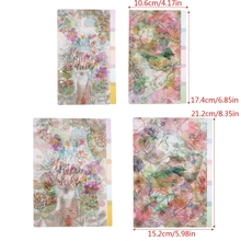 5Pcs Floral Category Page Planner Index Page Notebook Translucent 6 Hole Binder   M17F