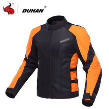 DUHAN Motorcycle Jacket Summer Breathable Mesh Moto Jacket Motocross Clothing Motorbike Jaqueta Motoqueiro With Five Protector