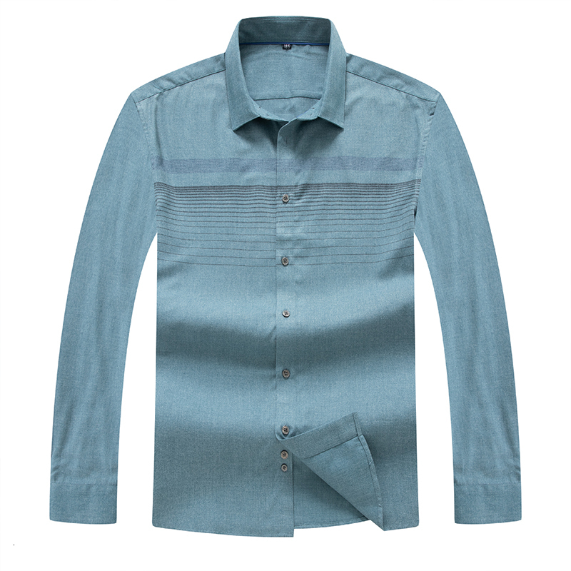 8XL 7XL Men's Oxford Cotton Fashion Stripe Casual Long Sleeve Shirts Retro Style High Quality Design Men's Dress Shirts Blouse