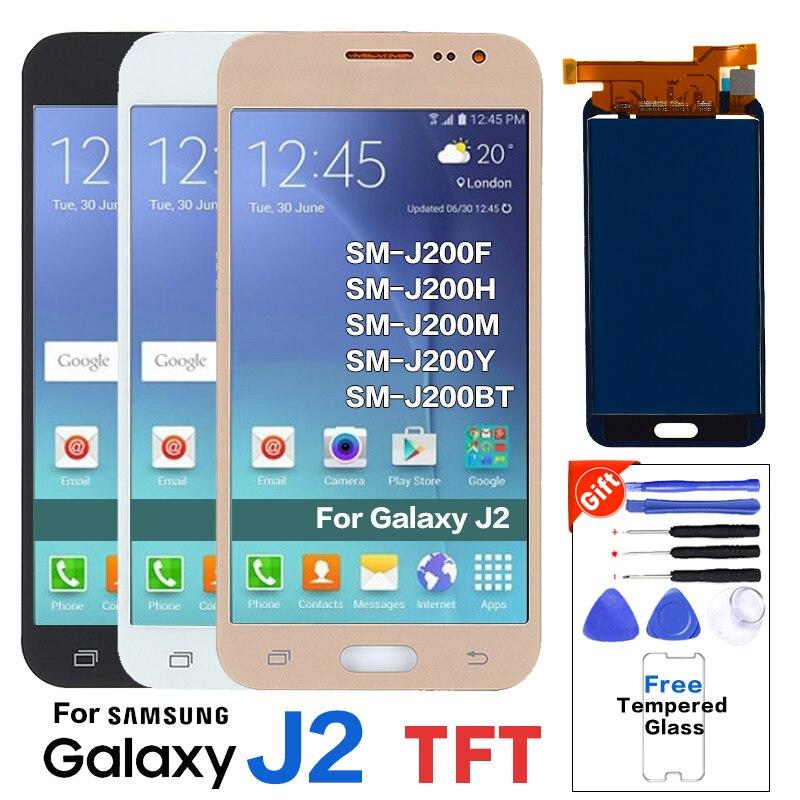 For Samsung Galaxy J2 SM-J200F LCD Display Screen For SAMSUNG J2 SM-J200H J200M J200Y J200BT Pantalla LCD Replacement