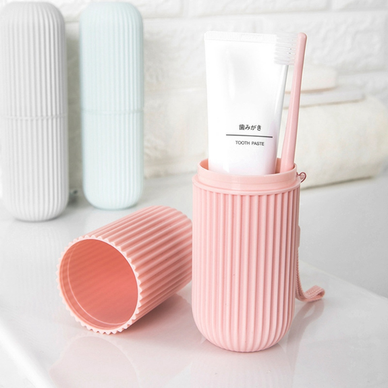 Toothbrush Holder Outdoor Travel Portable Wash Cup Toothpaste Storage Box Lightweight Bathroom Supplies Toothbrush Container image