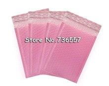 25pcs 50pcs 100pcs 외부 크기 5.9x7.8 inch 15*20cm 핑크 폴 리 버블 메일러 셀프 인감 패딩 봉투 사용 가능한 크기 130x200mm