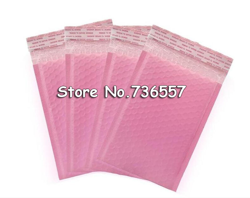 50pcs Outer Size 5.9x7.8 inch 15*20cm Black <font><b>Pink</b></font> Poly <font><b>Bubble</b></font> <font><b>Mailer</b></font> Self Seal Padded Envelopes Usable size 130x200mm image