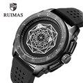 RUIMAS Лидирующий бренд Роскошные мужские спортивные часы Lumious водонепроницаемые кварцевые часы армейские военные мужские часы подарки для м...