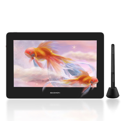 GAOMON PD1220 11.6 inche Digital Painting Tablet Display 8192 Levels Battery-free Pen compatible with Mac & Windows & Android OS