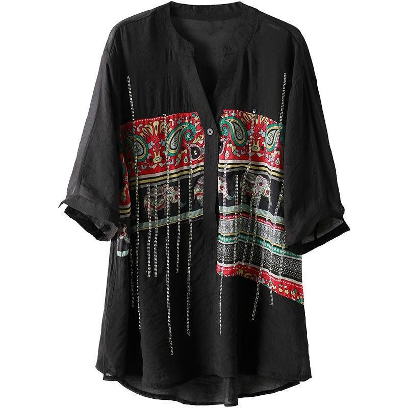 Plus Size Women Spring Summer Chiffon Blouses Shirts Lady Casual Short Sleeve Turn-down Collar Chiffon Blusas Tops DD8913 7
