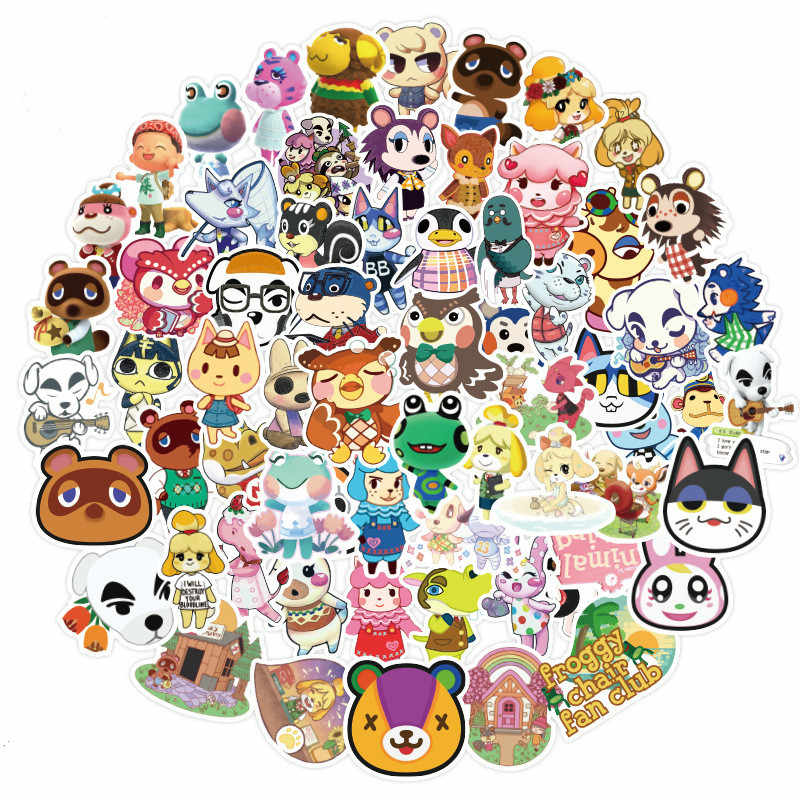 100Pcs Game Cartoon Animal Crossing Stickers Diy Motorfiets Reizen Bagage Gitaar Skateboard Cool Graffiti Sticker Voor Kid Speelgoed
