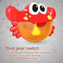 Crab spit bubble machine blowing infant bathtub children bathing baby bathroom bath toys play water with music стоимость
