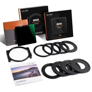 Image 5 - K & F Concept ND1000 filtre carré 100mm x 100mm filtre dobjectif avec support métallique + 8 pièces bagues dadaptation pour Canon Nikon Sony objectif de caméra