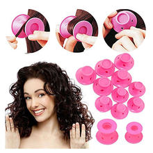 2/20/30pcs/set Soft Rubber Magic Hair Care Rollers Silicone Hair Curler Twist Hair No Heat No Clip Hair Curling Styling DIY Tool(China)