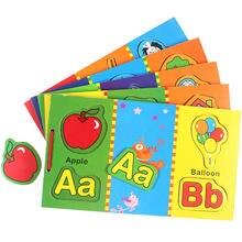 Магнитная деревянная книга пазлы для детей английские искусственные