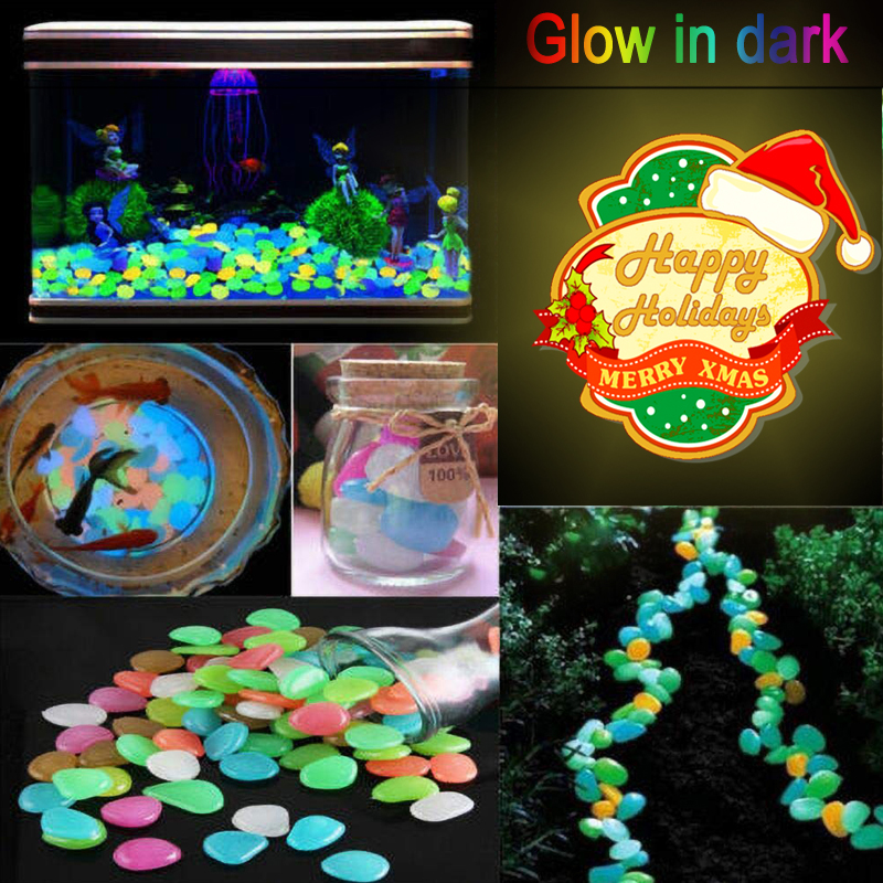 Luminous Stones 100/200/300/500 PCS Pathway Stones Glow In The Dark Garden Decoration Pebbles Walkway Aquarium Plants Yard Decor