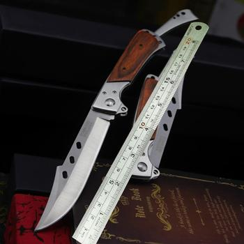 PEGASI  Colour wood handle folding swallowtail knife jungle hunting folding knife U.S.A Tactical folding knife body knife 6