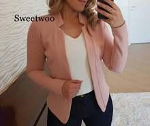 Осенние женские блейзеры и куртки карамельных цветов Женский