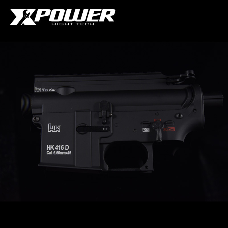 XPOWER HK416D Receiver Airsoft Accessories AEG Body Nylon Metal Gel Split Gearbox Paintball Outdoor Sports Paintball Air Gun