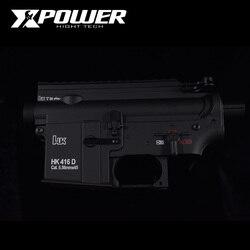 XPOWER HK416D receptor Airsoft accesorios AEG cuerpo Nylon Metal Gel Split caja de cambios Paintball deportes al aire libre Paintball pistola de aire