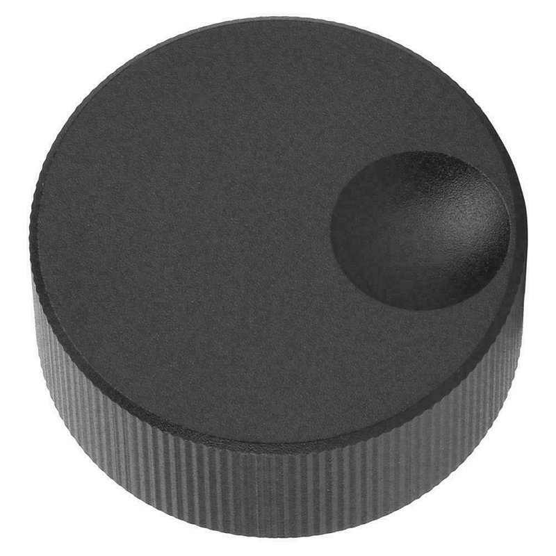 1 Set New Rotary Encoder Potentiometer Knob Black Frosted Solid Aluminum Volume Control Knob For 6mm Potentiometer 33mm