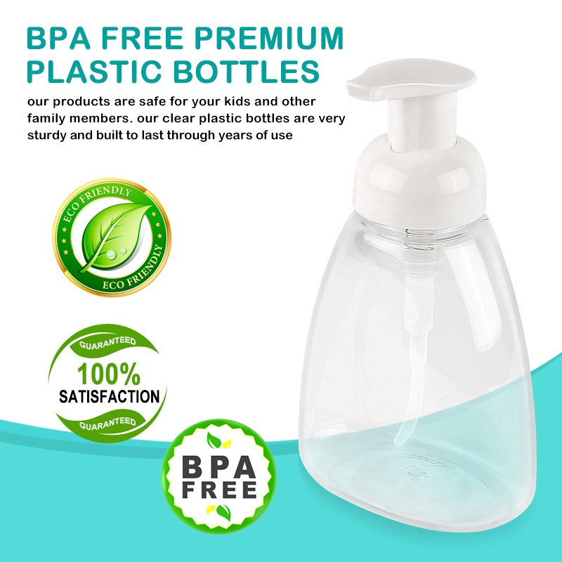 300ml Empty Plastic Foaming Hand Soap Dispenser Foam Pump Bottle Bathroom Refillable Bottles Skin Care Tool TSLM1