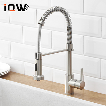 Spring Kitchen Faucet Hot And Cold Water Kitchen Mixer Black Chrome  Sink Faucet Basin Mixer Faucet Tap brass mixer tap cold and hot water kitchen faucet multifunction brass body chrome sink faucets kitchen sink tap