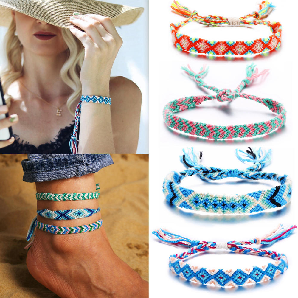 2019 Vintage Charm Bracelets Fashion Jewelry New Bohemian Rope Braided Bracelet For Women Men Femme Woven Friendship Bracelet