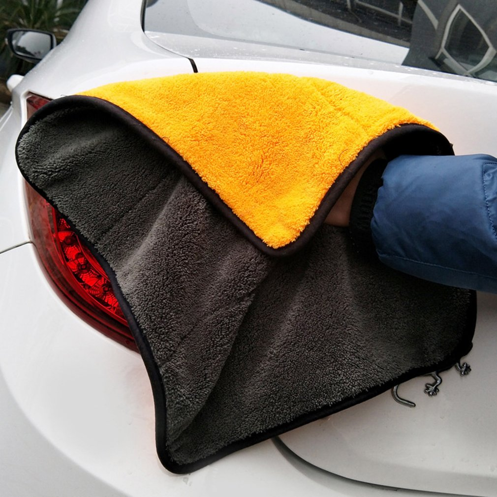 Car Wash Towel Microfiber Cloth Coral Velvet Glass Detailing Auto Window Cleaning Wipe Water Absorption Scouring Pad
