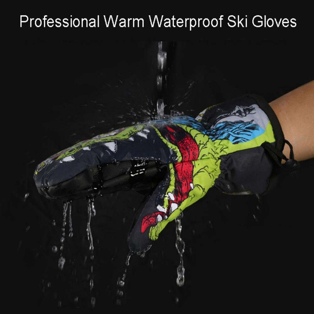 1 Pair Women Men Thick Waterproof Anti-slip Ski Gloves  Breathable Thermal Warm Snowboarding Mittens ```