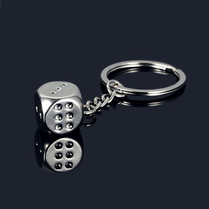 New Creative Metal Personality Dice Keyfob Keyring Keychain Men Women Key Holder Key Cover Auto Keyring Gifts Accessories(China)