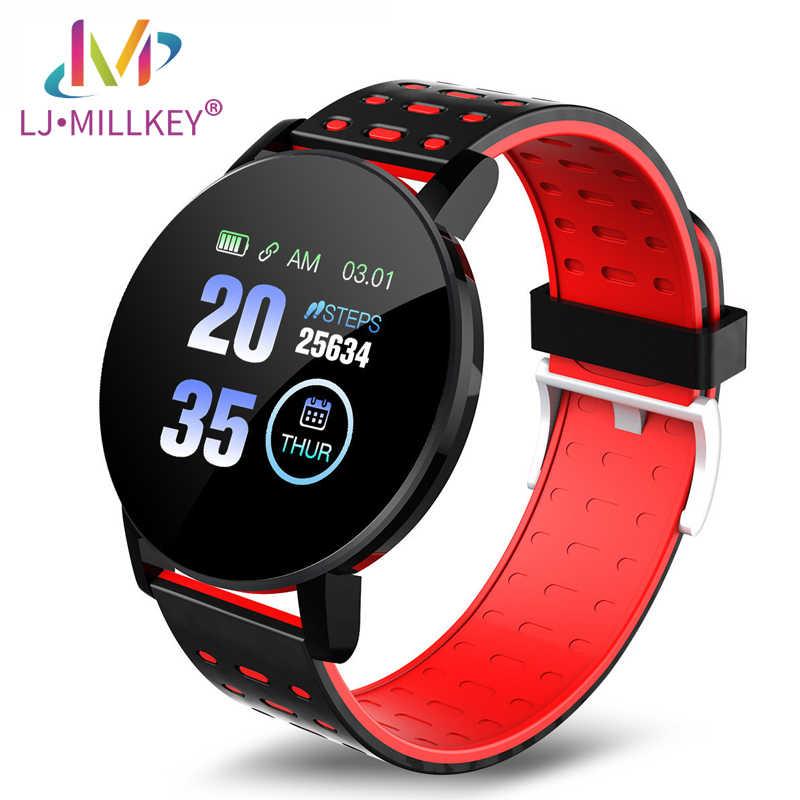 119 زائد الساعات الذكية مراقب معدل ضربات القلب جهاز تعقب للياقة البدنية Informaition تذكير النساء سوار الرجال Smartwatch