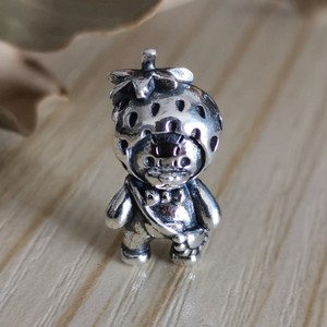 Image 4 - Genuine 925 Sterling Silver Strawberry Bear Charm Beads Fit Original Brand Bracelet Jewelry Vintage Bead for Jewelry Making