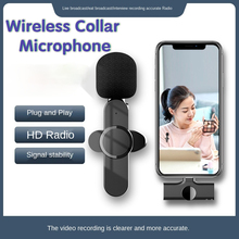 Professional Wireless Microphone Display Voice Recording Mic Mini Lavalier Microphone for Iphone/android/computer/PC Online Live