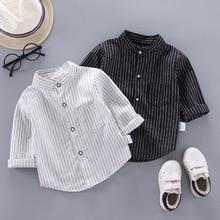 IENENS Spring Thin Shirts Baby Boys Long Sleeve Striped Print Shirts Kids Tops Tees Shirts Casual Blouse