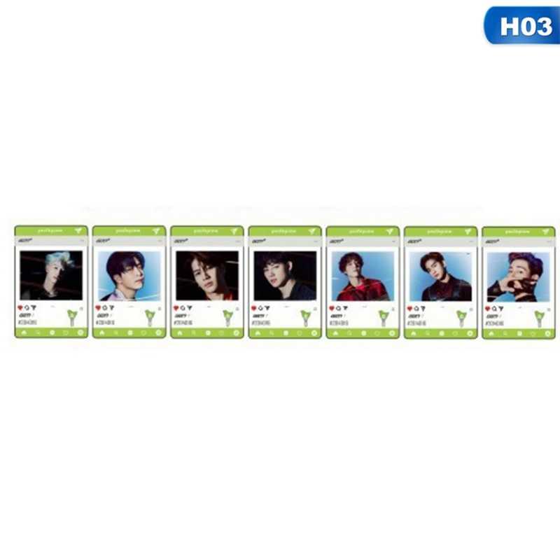 פעמיים Got7 PVC שקוף תמונה כרטיס חדש אלבום Photocard אוהדי אוסף מתנה