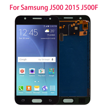 For Samsung GALAXY J5 J500 J500F J500FN J500M J500H 2015 LCD Display With Touch Screen Digitizer Assembly Adjust Brightness a lcd display with touch screen digitizer assembly for samsung galaxy j500 j500f j500m free shipping