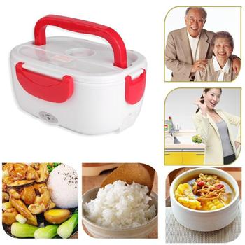 110V Electric Heating Lunch Box Food-Grade Food Container Food Warmer for Home Car Food Heater Rice Container Dinnerware Sets image