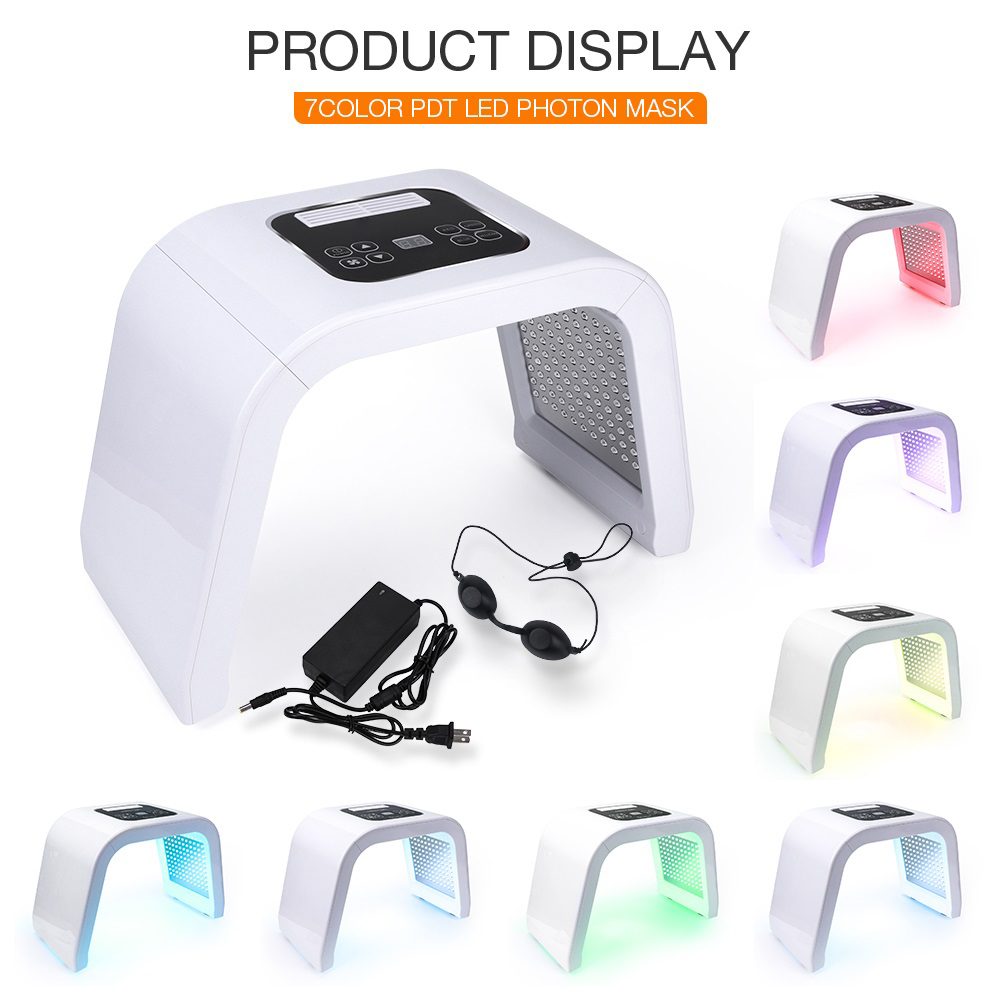 Photon LED Light Facial Mask 7 Colors Profession Ance Treatment  Deep Pore Cleaner Whitening Skin Rejuvenation Light Therapy
