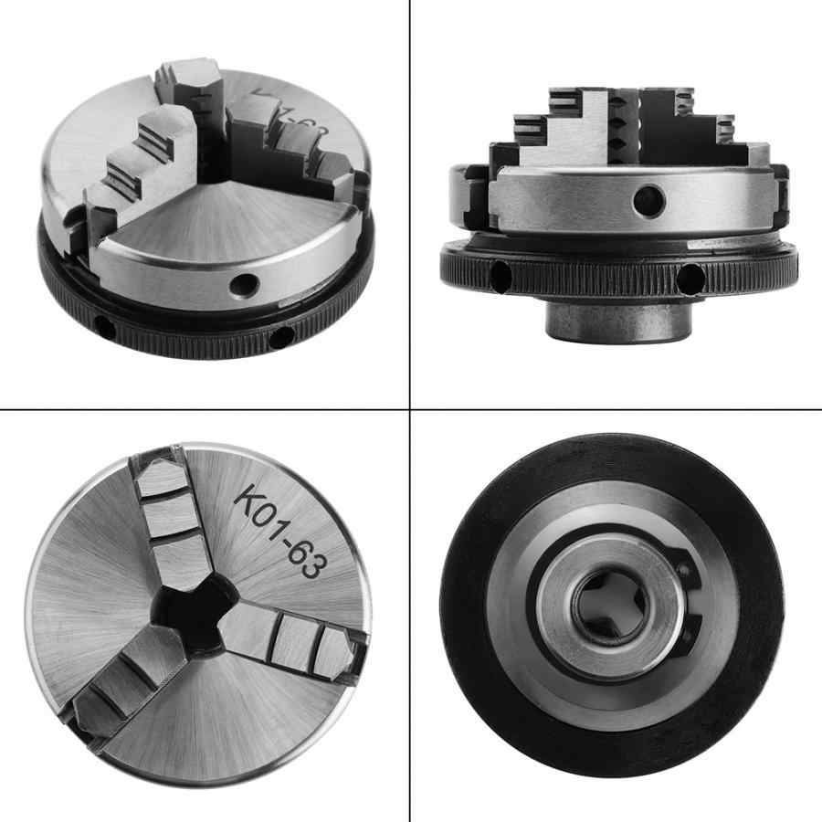 1pc 3-Jaw K01-63/M14 Manual Self-Centering Lathe Chuck for Woodworking Lathe Chuck